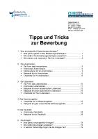 Tipps und Tricks zur Bewerbung